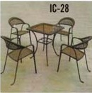 Wrought Iron Chair & Table