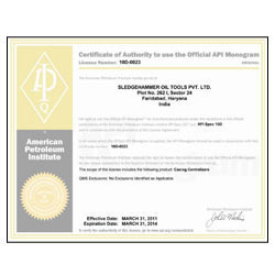Certificate of Authority to use the official API Monogram - 10D0023