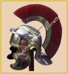 Roman Helmet With Red Crest