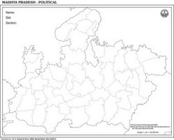 Madhya Pradesh Outline For state Map