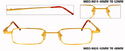 18 Kt Gold Reading Pintos Spectacles Frames