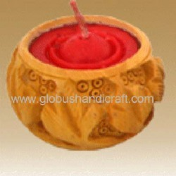 Candle Stand Wood Crafted Items (Cswci-06)