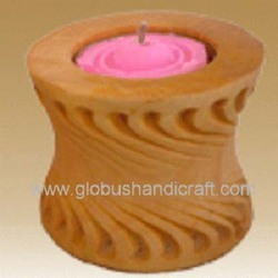 Candle Stand Wood Crafted Items (Cswci-07)