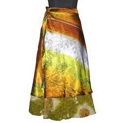 JaipurOnlineShop Viscose Vintage Indian Silk Wrap Skirt
