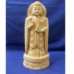 Wooden Buddha Standing Statue