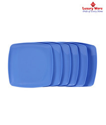 Blue Full Square Plates