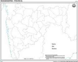 Maharashtra Outline For State Map