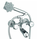 Telephonic Wall Mixer with Hand Shower