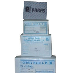 Manufacturer of Citric Acid Monohydrate & Citric Acid I P by Paras