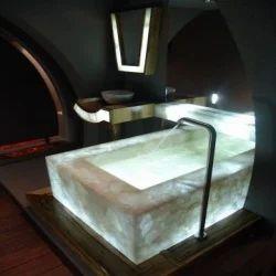 White Quartz Bathtub