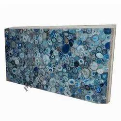 Blue Agate Slab Semi Precious Stone