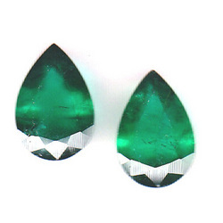 Emerald Pear Shape Pair 20.50 Cts