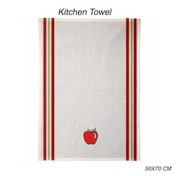 Yarn Dyed Kitchen Towel with Embroidered