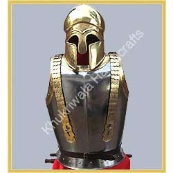 Armor With Greek Helmet