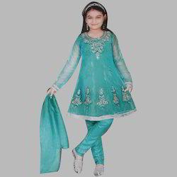 Girls Net Anarkali Suit