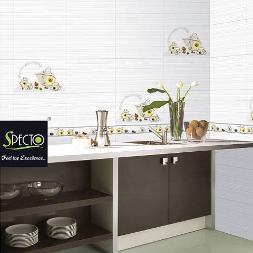 Kitchen Wall Tiles India Designs: Kitchen White And Ivory Wall Tiles