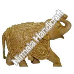 Wooden Elephant Statues