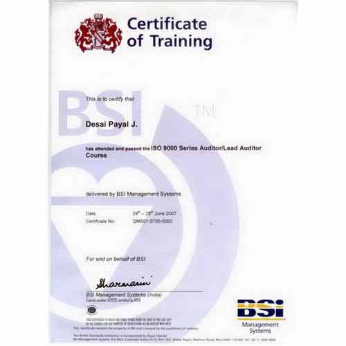 Certification and Achievements - Certificate of Training