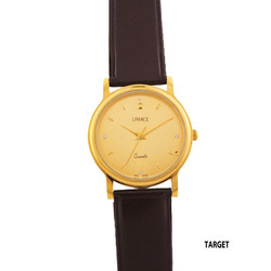 Men's Target Brown Leather Band Watch