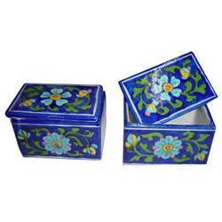 Blue Pottery Boxes