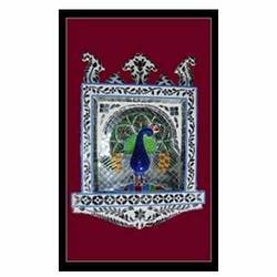 Glass Inlay Peacock