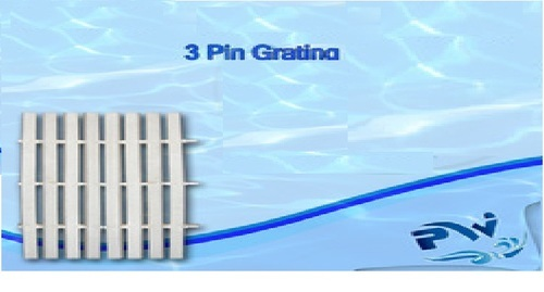 PVC Eco-Friendly Swimming Pool Grating - 3 Pin Over Flow