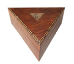 Triangle  Shaped  Wooden Box