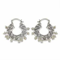 Pearl Gemstone 925 Sterling Silver Charm Earring Jewelry