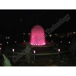 Dandelion Fountain With LED Based Lights