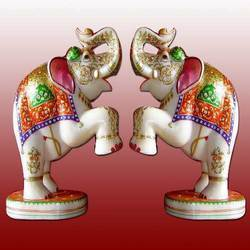 Decorative Marble Elephants