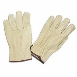 Driving Gloves Beige Grain