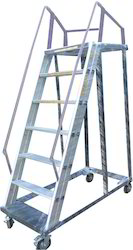 Aluminum Trolley Type Step Ladder
