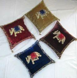 Velvet Elephant Cushion Cover
