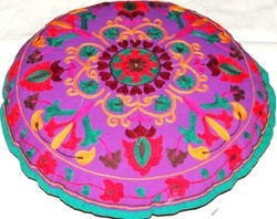 Suzani Floral Floor Cushion Cover