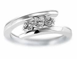 Hamesha Princess Diamond Crossover Ring