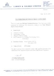 Certificate by L & T 3