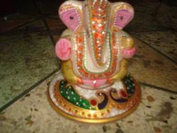 Marble Slab Ganesha Statue