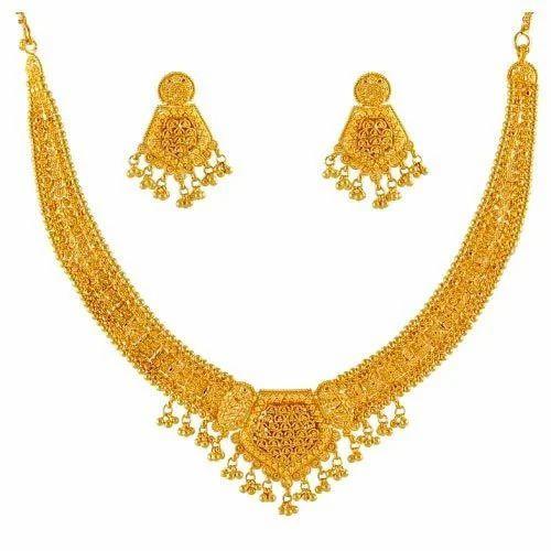 Gold Necklace Set स न क ह र क स ट View