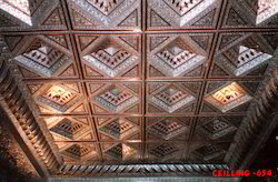 Fiberglass Color Coated Square Dome Ceiling, For Decoration