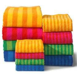 Striped Cotton Bath Towel