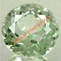 Green Amethyst Round Cut Gemstone