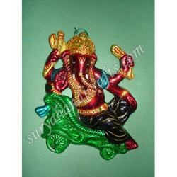 Meena Painting Ganesh With Sitting