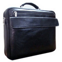 Zippered Leather Briefcase Bag