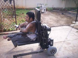Motorized Ground Level Wheelchair