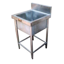 Harrison's Ready To Mount Stainless Steel Single Compartment Sink, For Washing, Size: 2' X 2' X (34