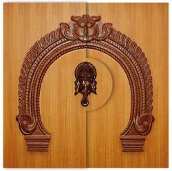Ganesh Wood Door