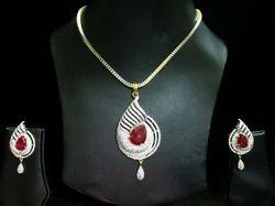 American diamond pendant set in delhi american diamond ka jhumka american diamond pendant set aloadofball Image collections