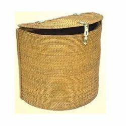 Half Round Laundry Cane Basket