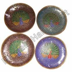 Meena Painting On Peacock Plates