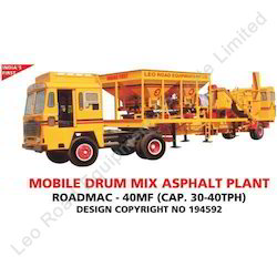 Mobile Drum Mix Asphalt Plant cap 30-40 TPH